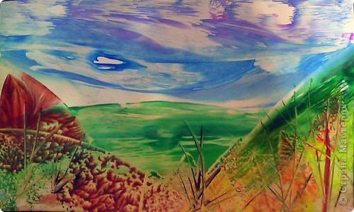 Картина панно рисунок Мастер-класс Энкаустика как я рисую утюгом Воск парафин фото 16