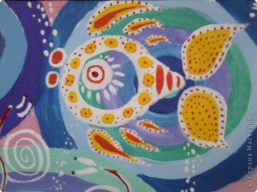 Рисовала по веб-уроку Мальчихиной Марии Александровны http://edu.of.ru/studiosk/default.asp?ob_no=52207 Спасибо большое за такой подробный мастер-класс!!!  Работу выполняла сразу в двух вариантах - фон поярче фото 3