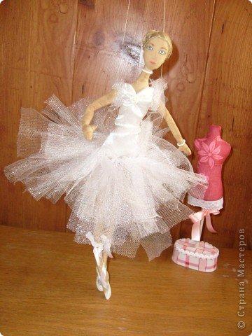 Текстильная кукла-балерина фото 2