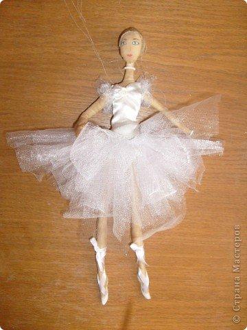 Текстильная кукла-балерина фото 3