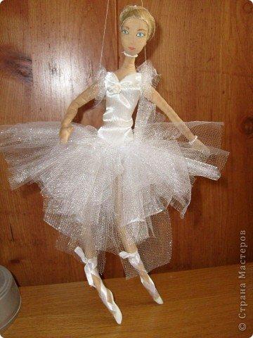 Текстильная кукла-балерина фото 4
