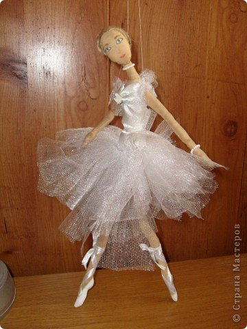 Текстильная кукла-балерина фото 5