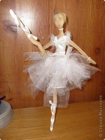 Текстильная кукла-балерина фото 6