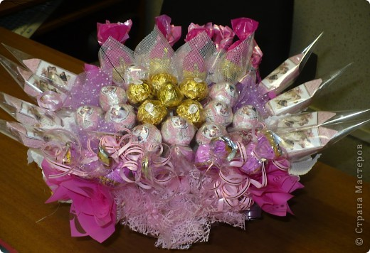 Букет в розовых тонах  фото 2