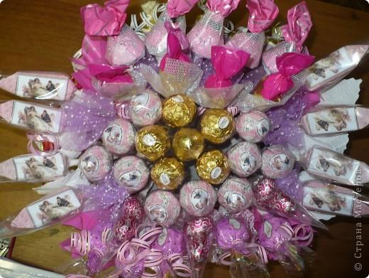 Букет в розовых тонах  фото 3