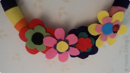 Вот такой вот веночек из фетра в детскую комнату фото 2