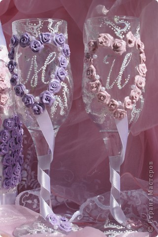 Свадебный набор в моём исполнении ))) Думаю получилось симпатичненько)))) фото 3