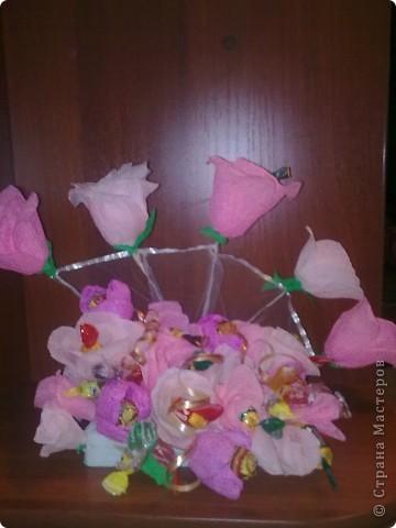 конфетный букет фото 1