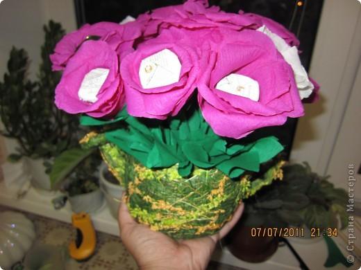 Мой первый цветочно-конфетный букетик....накнец-то фото 2