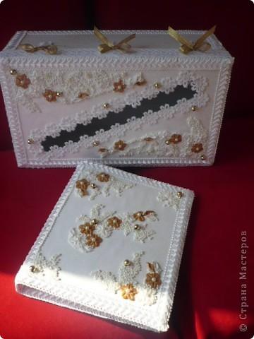 Бокальчики, книга для пожеланий и коробка для денег. Такой вот небольшой наборчик... фото 7
