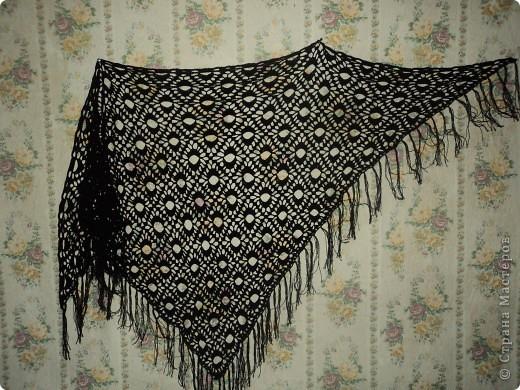 Приятно одеть такую шаль в прохладный вечер