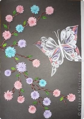 Вот и у меня появился Павлин, только в сопровождении бабочек. Спасибо Ольге Ольшак за МК. Работы правда пока еще без рамочек.  фото 4