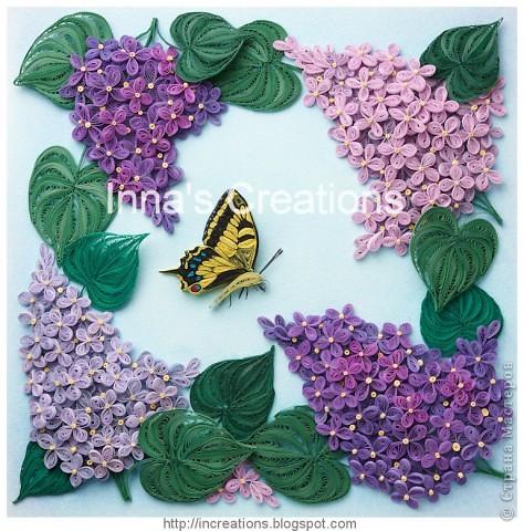 Сирень с бабочкой