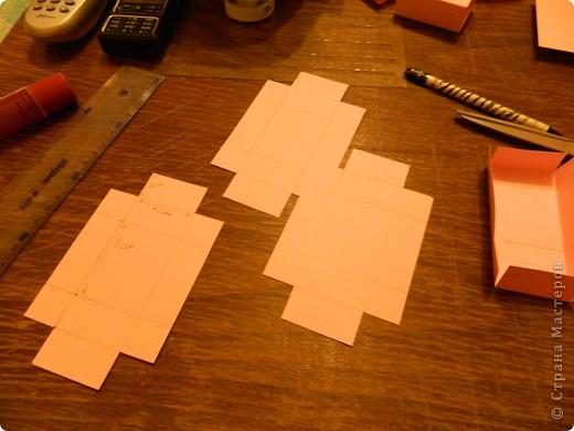 """Пункт 1. Я начала работу с изготовления выдвижных ящиков. А именно не с самой коробочки, а того куда она будет задвигаться (не знаю как это правильно называется, извините, буду назвать их """"держатели""""). На листе А3 отметила такие размеры (по ширине листа). фото 5"""