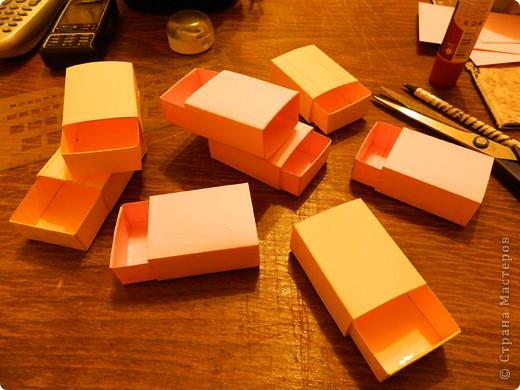 """Пункт 1. Я начала работу с изготовления выдвижных ящиков. А именно не с самой коробочки, а того куда она будет задвигаться (не знаю как это правильно называется, извините, буду назвать их """"держатели""""). На листе А3 отметила такие размеры (по ширине листа). фото 8"""