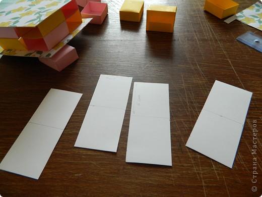 """Пункт 1. Я начала работу с изготовления выдвижных ящиков. А именно не с самой коробочки, а того куда она будет задвигаться (не знаю как это правильно называется, извините, буду назвать их """"держатели""""). На листе А3 отметила такие размеры (по ширине листа). фото 14"""