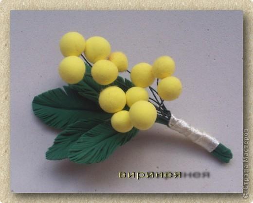 Плюмерия. Зелень искусственная. Цветочек из ХФ, крашен масляными красками. фото 2
