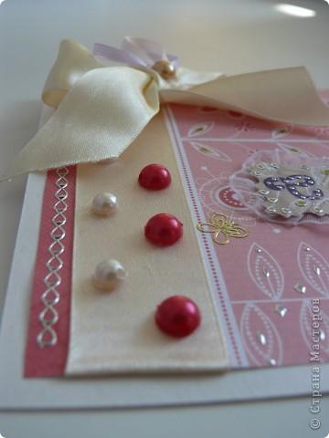 Комлект: свадебная открытка и конверт для денег фото 4