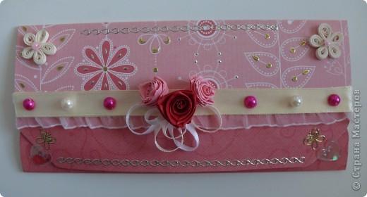 Комлект: свадебная открытка и конверт для денег фото 5
