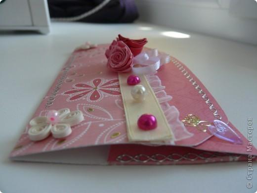 Комлект: свадебная открытка и конверт для денег фото 6