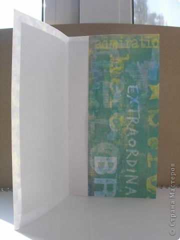 Здравствуйте! Очередной поздравительный конверт. Мужской. Прямоугольники в клетку--это ткань. Решила поэкспериментировать. фото 2
