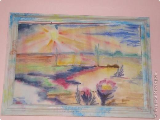 """Доброго времени суток, Страна! представляю Вашему вниманию втору картину серии """"Закат, рассвет и возрождение"""". Техника: акварель по-мокрому. фото 2"""