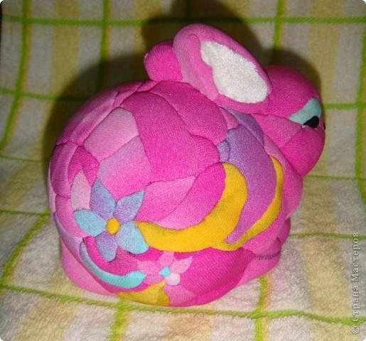 Зайчик (из ткани и пенопласта) фото 2