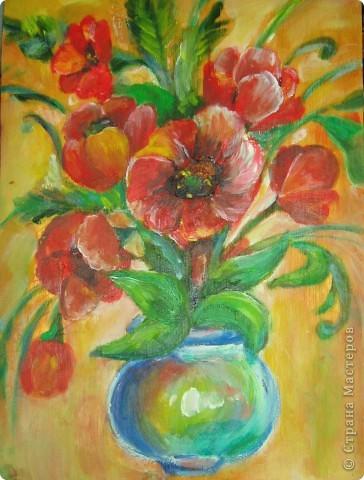 Вот моя четвёртая работа маслом! Рисовать масляными красками одно удовольствие. рисовала на незагрунтованной(!) фанерке(!), просто именно она первая попалась под руку!  фото 1