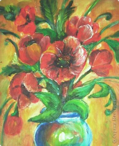 Вот моя четвёртая работа маслом! Рисовать масляными красками одно удовольствие. рисовала на незагрунтованной(!) фанерке(!), просто именно она первая попалась под руку!  фото 2