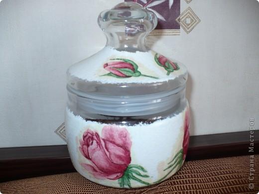 Моя дочь очень любит хороший чай.  К дню свадьбы я для их новоиспечённой семью сделала такую баночку для вкусной заварки. фото 2