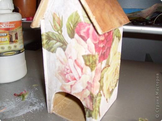 Давно хотела себе чайный домик и вот решилась, делала его полностью сама)) фото 9