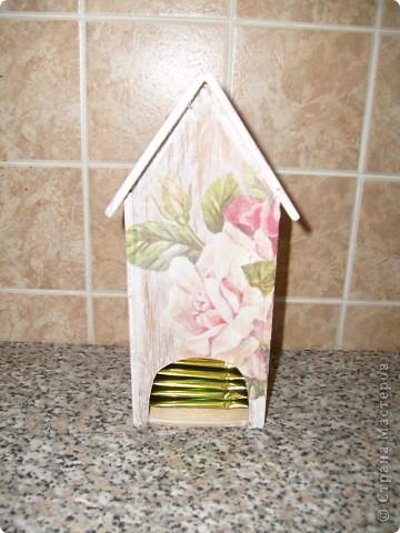 Давно хотела себе чайный домик и вот решилась, делала его полностью сама)) фото 12