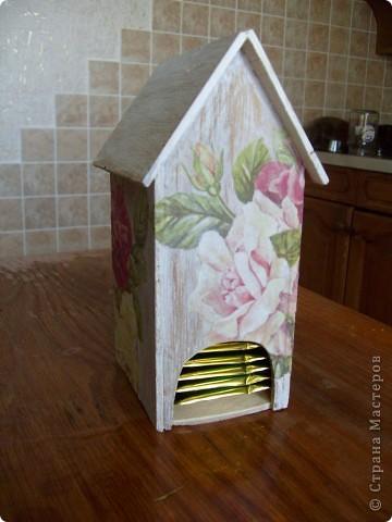 Давно хотела себе чайный домик и вот решилась, делала его полностью сама)) фото 1