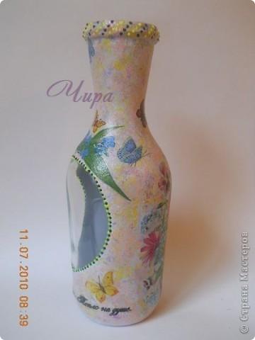 """Ваза """"Анютины глазки"""". Прямой и обратный декупаж. Мне была нужна ваза для дачной веранды. Весёлая и летняя. фото 4"""