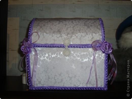 Коробка для открыток на свадьбу (или как еще ее называют казна=)) фото 2
