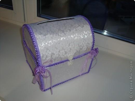 Коробка для открыток на свадьбу (или как еще ее называют казна=)) фото 3