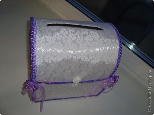 Коробка для открыток на свадьбу (или как еще ее называют казна=)) фото 4