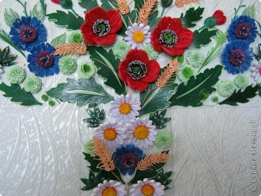 Такой букетик сложился из цветов, которые остались от большей работы, которая ниже. фото 6