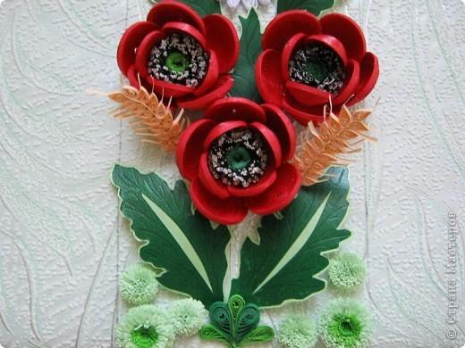 Такой букетик сложился из цветов, которые остались от большей работы, которая ниже. фото 8