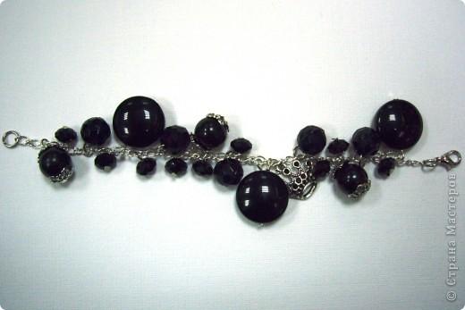 Черная роскошь-браслет фото 2