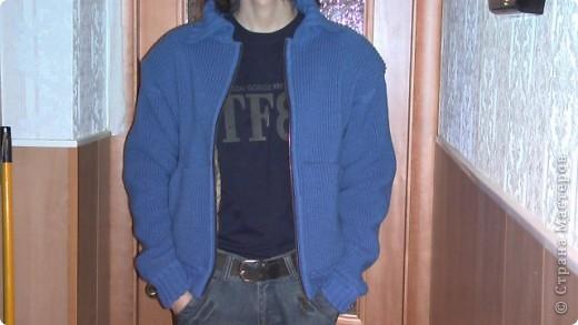 Решила вам показать, как я вязала на машинке Зингер курточку сыну. фото 2