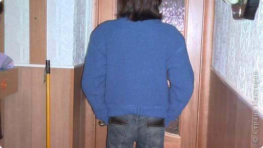 Решила вам показать, как я вязала на машинке Зингер курточку сыну. фото 4