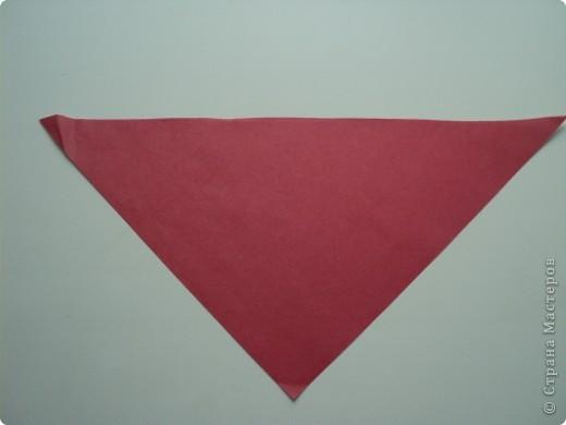1. Разрезать квадрат по диагонали. фото 1