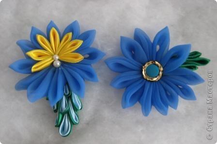 Вот пробую еще различные цветочки-заколочки.. фото 1
