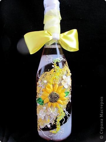 """Бутылки""""Свадебные подсолнухи"""" фото 3"""