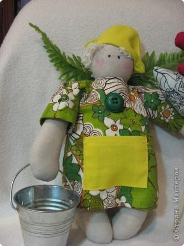 Здравствуйте, мои хорошие!!!!  Сегодня я вас хочу познакомить с Тильдо-садовым Ангелом.   Посмотрите----- фото 4