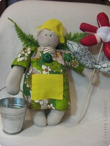 Здравствуйте, мои хорошие!!!!  Сегодня я вас хочу познакомить с Тильдо-садовым Ангелом.   Посмотрите----- фото 5
