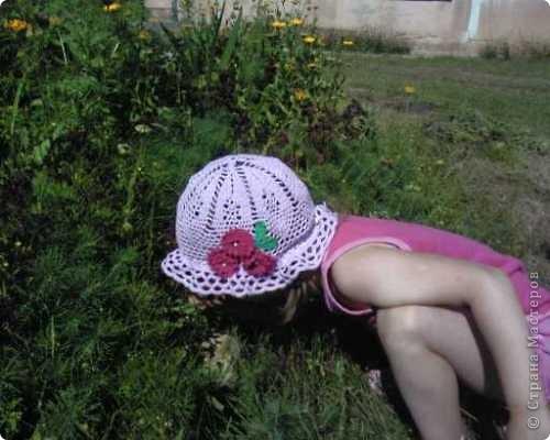 Вот такая шляпка у меня получилась для дочьки! фото 3