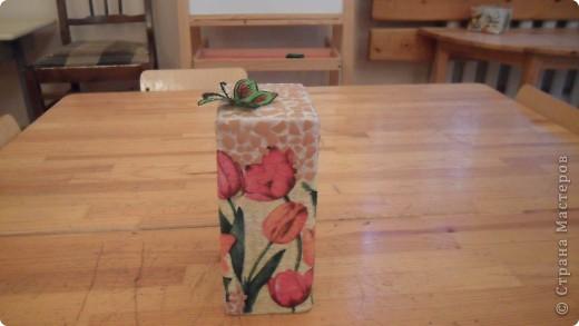 попробовала сделать чайный домик из коробки от витаминов для кошек фото 3