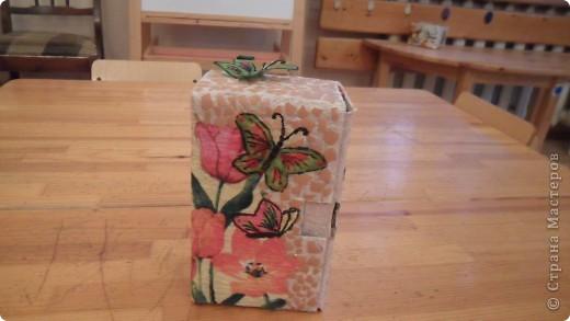 попробовала сделать чайный домик из коробки от витаминов для кошек фото 4
